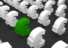 Green EURO Stock Photography