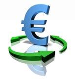 Green euro Royalty Free Stock Photo