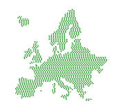 Green Europe silhouette. Stock Images
