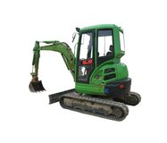 Green Excavator Stock Images
