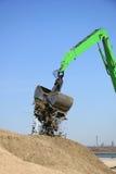 Green excavator Royalty Free Stock Image