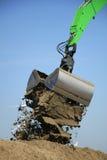 Green excavator Stock Photo