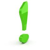 Green exclamation mark Stock Photo