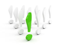 Green exclamation mark leadership concept Stock Photography