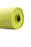 Green exercise mat. Isolated on white background Royalty Free Stock Image