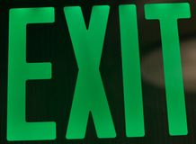 Green Exit Sign Royalty Free Stock Photo