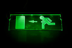 Green exit sign Stock Photography