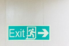 Exit signs. Royalty Free Stock Image