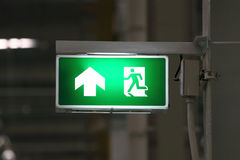 Green exit symbol Royalty Free Stock Images
