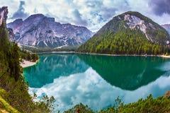 Green expanse of lake Stock Image
