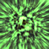 Green explosion. Dynamic explosion in green color Royalty Free Stock Images