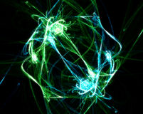 Green explosion. Green techno waves Royalty Free Stock Photo