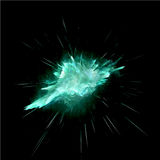 Green explosion abstract-01 vector illustration