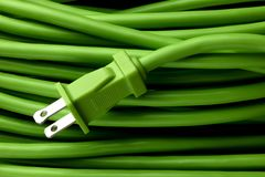 Green Extension Cord Royalty Free Stock Photography