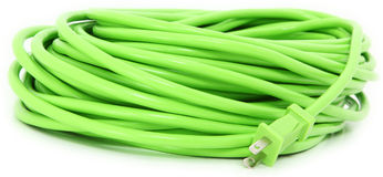 Green Extention Cord royalty free stock images