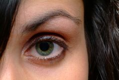 Green eye. A green eye of a young woman Stock Photo