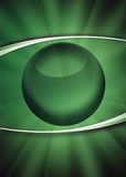 The green eye. Abstract illustration of the human eye with green view Royalty Free Stock Images