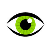 Green eye icon. Vector illustration Stock Image