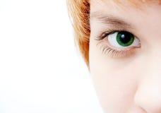 Green eye look. Green eye stock photo