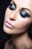 Green eye makeup Stock Photography
