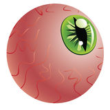 Green Eye of a Monster Royalty Free Stock Image