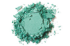 Green eye shadow crushed royalty free stock photography