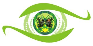 Green eye symbol Royalty Free Stock Photos