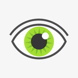 Green eye symbol. Royalty Free Stock Photo