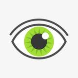Green eye symbol. Vector illustration Royalty Free Stock Photo