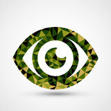 Green eye triangle pattern design Stock Images