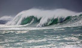 Green eye of wave Stock Photo
