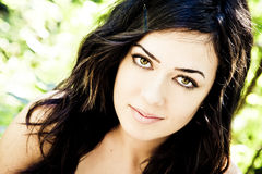 Green Eyed Beauty Stock Photography