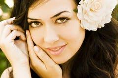 Green eyed beauty Royalty Free Stock Image