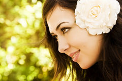 Green eyed beauty Stock Images