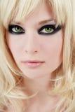 Green-eyed Blondine Lizenzfreie Stockfotos