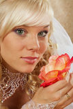 Green-eyed bride Royalty Free Stock Images