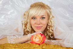 Green-eyed bride Stock Photos