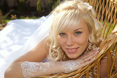 Green-eyed bride Stock Image