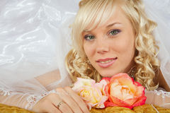 Green-eyed bride Royalty Free Stock Image