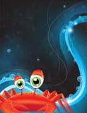 Green-eyed cartoon crab Royalty Free Stock Photography