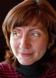 Green-eyed Frau lizenzfreie stockfotos