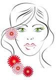 Green-eyed Mädchen Stockfoto