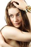 Green-eyed Mädchen Lizenzfreie Stockfotografie