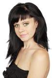 Green-eyed von der Frau Stockfotos