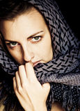 Green Eyed Woman In Arabic Style Stock Photography
