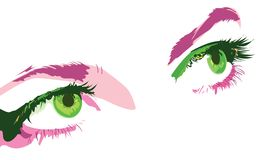Green eyes Stock Photos