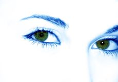 Green eyes. Woman green eyes stock photography