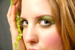 Green eyes Stock Image