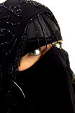 Green eyes burqa Stock Image