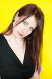 Green eyes of woman Stock Photos